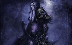 Night Elves, elves, blonde, bows, elven ears