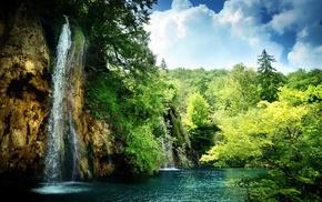 пейзаж, водопад, вода, природа