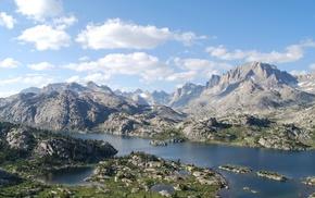 nature, landscape, mountain, river