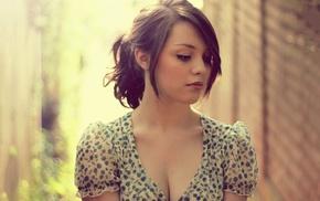 model, cleavage, brunette, Imogen Dyer, girl