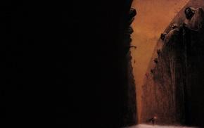 Zdzisaw Beksiski, painting, creepy, classic art, dark, fantasy art