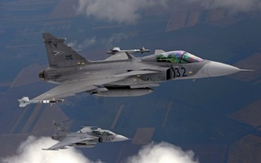 airplane, aircraft, Jet, JAS, 39 Gripen
