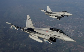 Jet, Eurofighter Typhoon, aircraft, airplane
