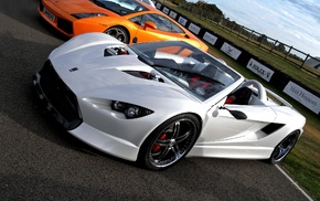 white cars, car, orange cars