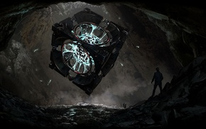 cave, plasma, fantasy art