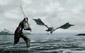 The Elder Scrolls V Skyrim, video games, dragon