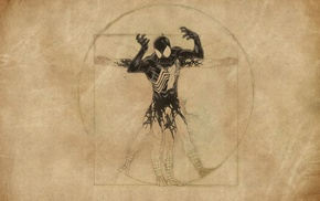 Spider, Man, Vitruvian Man, comic books, Venom