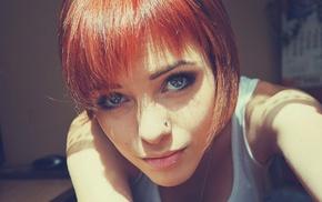 girl, Lana Branishti, short hair, piercing, redhead