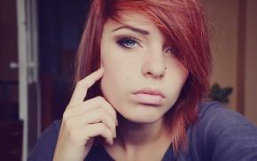 girl, redhead, Lana Branishti