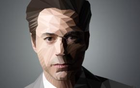 gray, Iron Man, celebrity, Robert Downey Jr., geometry