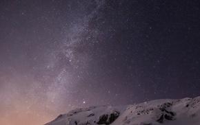 Apple Inc., небо, снег, горы