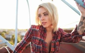 модель, блондинка