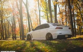 Mitsubishi, DAT3VO, evolution, Mitsubishi Lancer Evo X, Mitsubishi Lancer, white cars