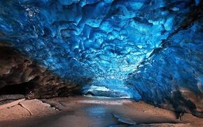 cave, ice, landscape, nature