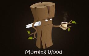 wood, humor, coffee, simple, paper