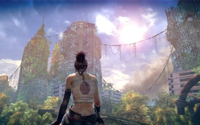 Enslaved Odyssey to the West, girl, digital art, ruin, Trip character