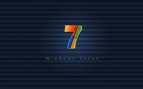 azure, Windows 7, wallpaper