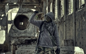 urban exploration, urbex, gas masks, Klamra, Poland, S.T.A.L.K.E.R.