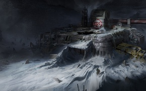 Dead Space, abandoned, science fiction, snow