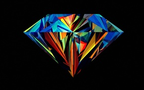 Justin Maller, diamonds, Facets, abstract