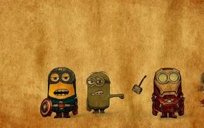 superhero, minions, The Avengers, humor, Captain America, Hulk