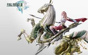 игры, Final Fantasy XIII, Final Fantasy, меч, лошадь