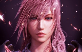 blue eyes, pink hair, video games, Final Fantasy, Final Fantasy XIII, pink