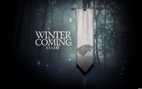 Game of Thrones, sigils, House Stark, A Song of Ice and Fire, Winter Is Coming