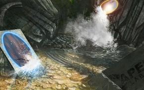 digital art, Portal 2, Portal