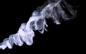minimalism, black background, smoke
