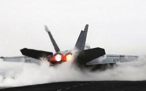 jets, aircraft, McDonnell Douglas FA, 18 Hornet, smoke