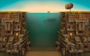 split view, Jacek Yerka
