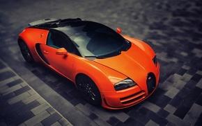 Bugatti Veyron, orange cars, car, Bugatti