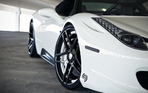 Ferrari 458 Italia, car, white cars