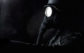 black, gas masks