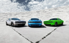 muscle cars, Dodge Challenger RT, Dodge, car, Dodge Challenger