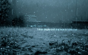 rain, quote, text, John Green
