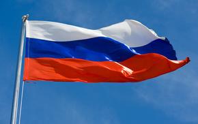 flag, sky, stunner, Russia