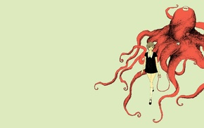 bell, black dress, octopus, crowns