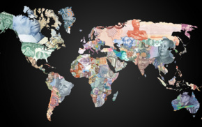 world, map, money