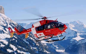 Switzerland, helicopter, aircraft, mountain