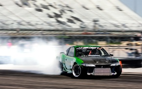smoke, drift, cars, auto, racing