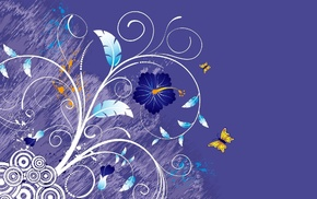 flowers, stunner, butterfly