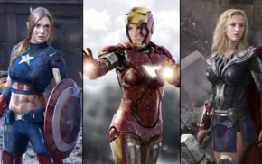 photoshopped, Iron Man, photo manipulation, Captain America, Marvel Comics, Thor
