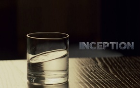 water, Inception, glass, movies