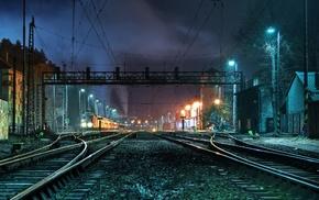 railway crossing, train, railway