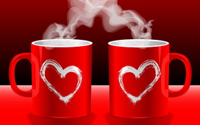 love, red, hearts
