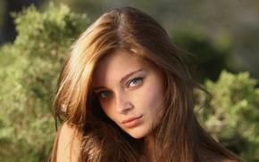 лицо, веснушки, брюнетка, девушка, модель