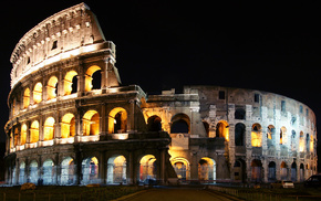 Italy, cities, night