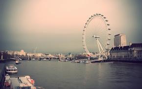 UK, London, sky, houses, city
